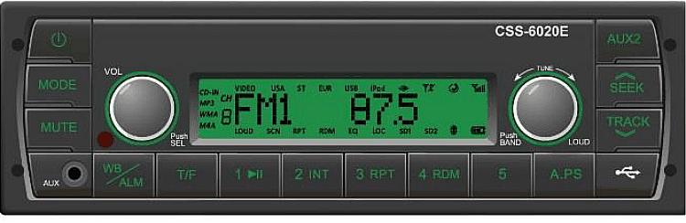 Prewired Kubota Tractor Radio